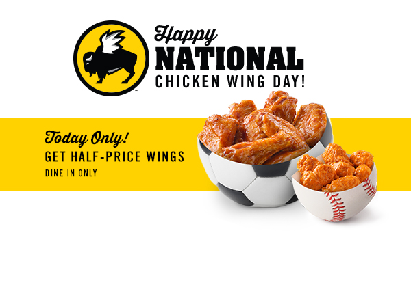 image regarding Buffalo Wild Wings Printable Menu named Buffalo wild wings wings bargains - Joann materials coupon codes phrases