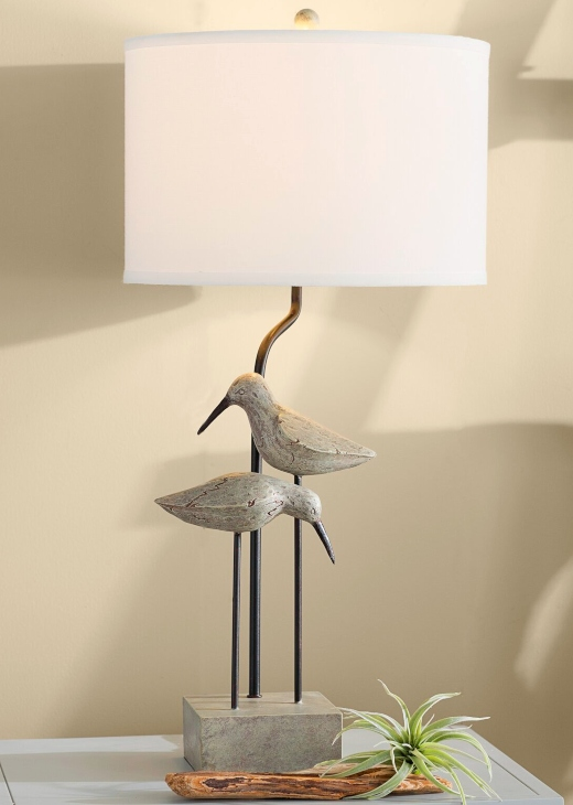 Coastal Bird Table Lamps