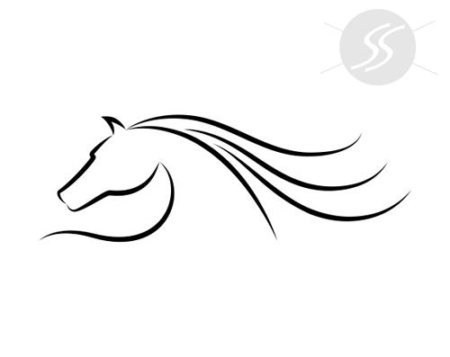 adesivos decorativos animais silhueta cavalo - 20 Adesivos decorativos de animais para decorar o seu ambiente
