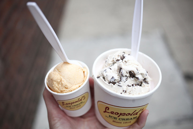 Pumpkin pie ice cream and more from Leopold's
