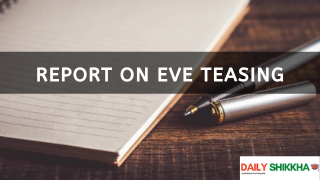 Report on Eve Teasing