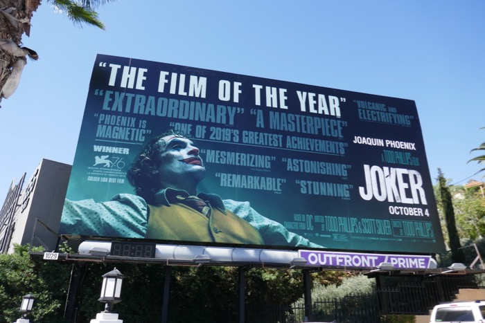 Joker film of the year billboard