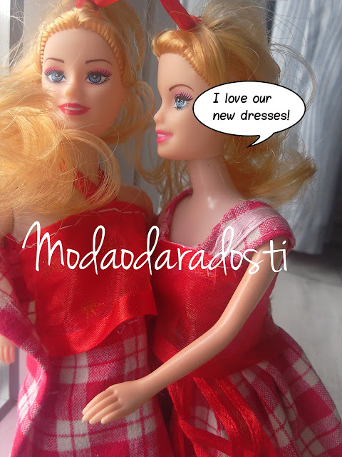I love our new dresses! #barbiedolls #barbiecreation #creative #diy