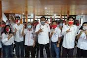 Ketua Seknas Jokowi Sulut Fanny Legoh,  Mengaku Siap Menjalankan Arahan Olly-Steven.