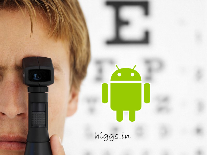 Improve your eyesight with an Android App...