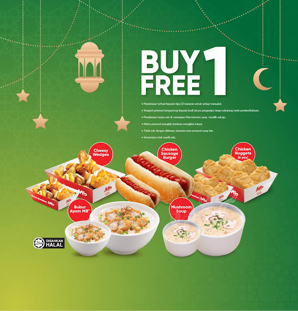 Berbaloi Puasa Buy 1 Free 1 (for takeaway only)