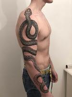 большая змея тату