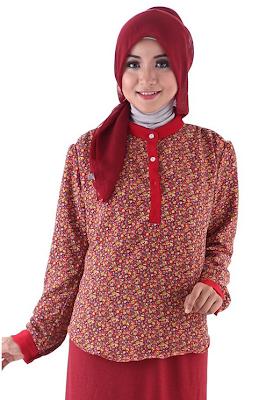 Model Baju Batik Muslim Untuk Kerja Kantor Modern Terbaru