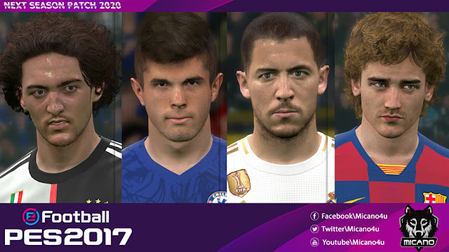 PES 2017 Next Season Patch 2020 and Update 1 by micano4u