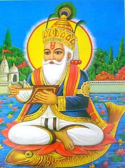 Hindu God picture of jhulelal