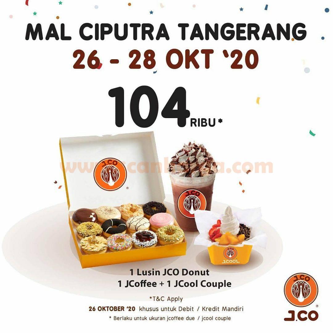 JCO Mal Ciputra Tangerang Promo 1 Lusin Donut+1 J.Coffee + 1 J.Cool Couple hanya Rp 104ribu*
