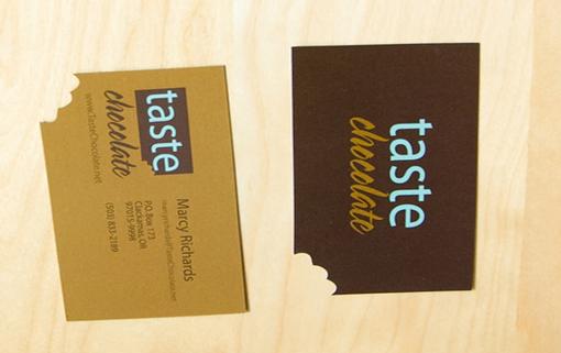 In nhanh card visit rẻ đẹp, thiết kế sang trọng chuyên nghiệp taste chocolate