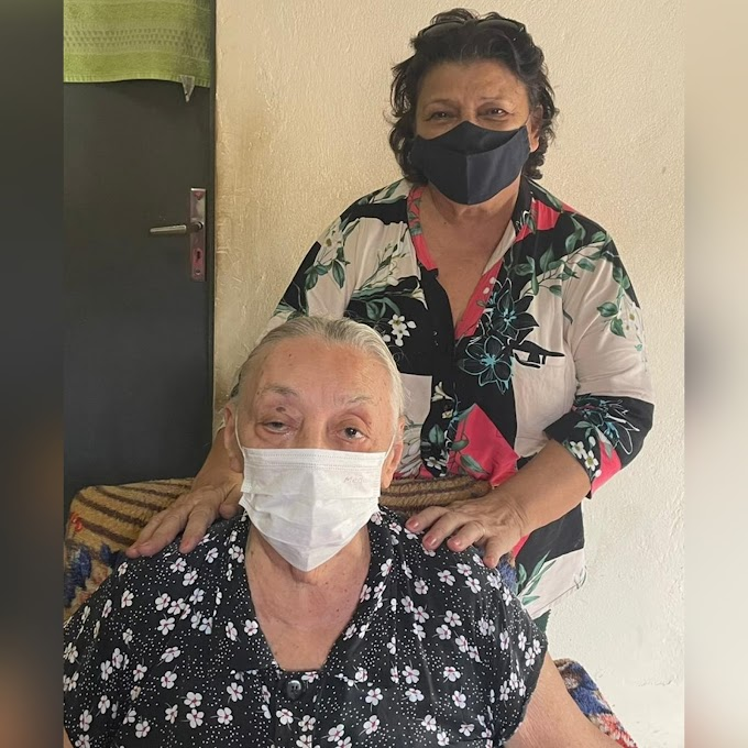 Aos 86 anos, dona Belildes Palhares recebe primeira dose da vacina contra Covid-19