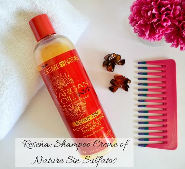 reseña creme of nature sulfate-free shampoo economico