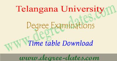TU degree 2nd sem time table 2018 telangana university ug exam dates pdf