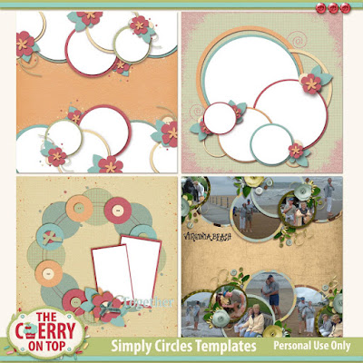 Simply Circle Digital Templates from The Cherry On Top