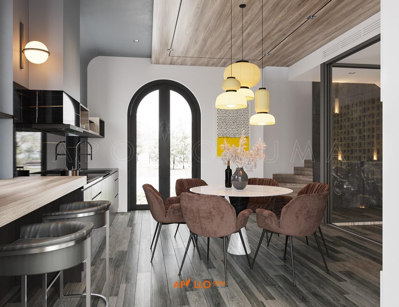 Thiết kế phòng bếp biệt thự Vinhomes Ocean Park - Phân khu Sao Biển