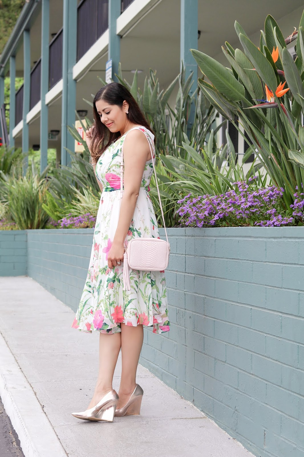Vibrant Colored Spring Floral Dress | Lil bits of Chic by Paulina Mo ...