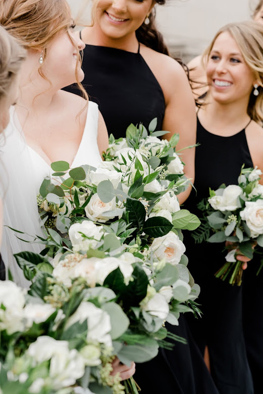 St. Louis Wedding Photographer, Black white gold Wedding