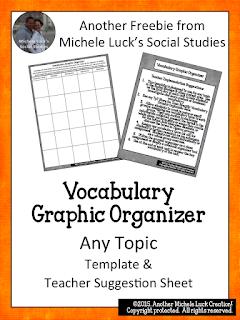 https://www.teacherspayteachers.com/Product/Vocabulary-Graphic-Organizer-for-ANY-TOPIC-2138723