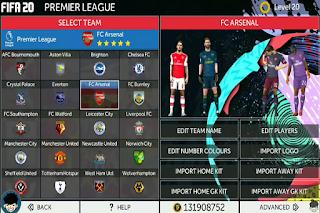 Anda jangan lupa untuk Unduh juga file  Download FTS MOD FIFA 20 by RC