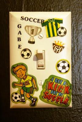 soccer light switch cover