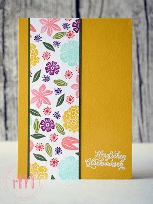 Stampin' Up! rosa Mädchen Kulmbach: Stamp A(r)ttack Blog Hop: Lasst Blumen sprechen – One sheet wonder mit selbst gemachtem Designerpapier mit Blüten des Augenblicks