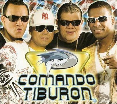 Foto del Comando Tiburón en portada de disco