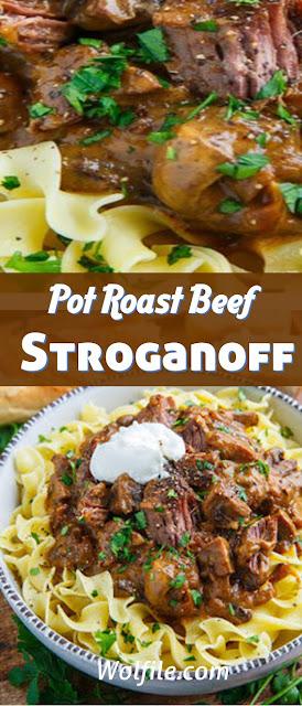 Pot Roast Beef Stroganoff Recipe #Beef
