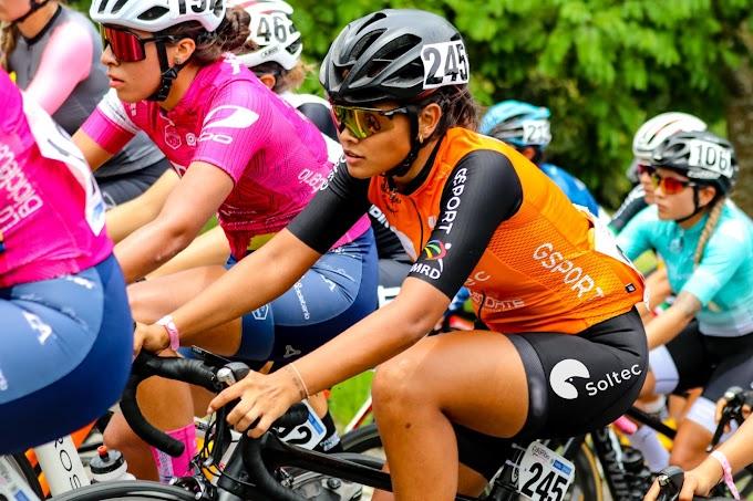 Natalia Franco (Soltec Team) sin opciones de disputar el sprint de la 2ª etapa de la Vuelta a Colombia femenina debido a una caída sin consecuencias
