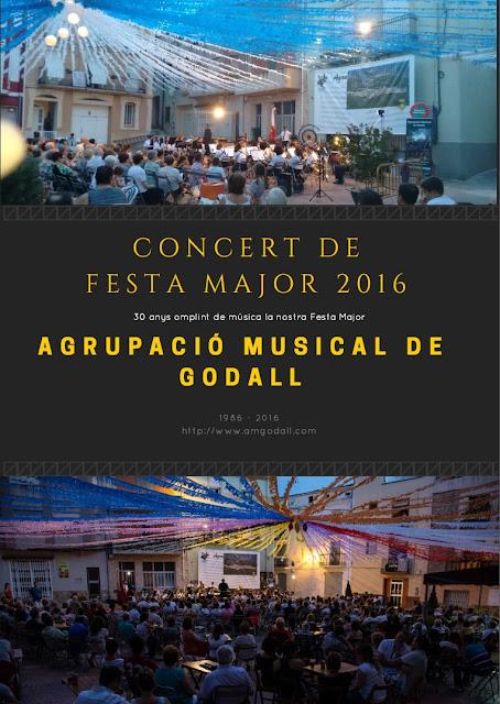 Programa del Concert de Festes Majors de l'Agrupació Musical de Godall (Montsià)