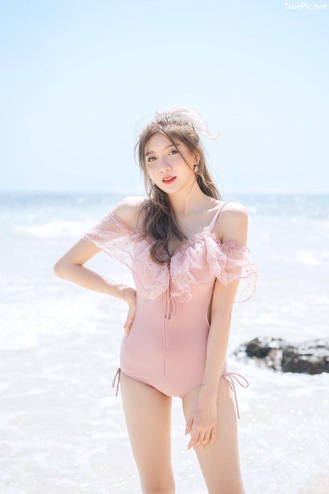 Image Thailand Model - Sasi Ngiunwan - Pink Monokini - TruePic.net - Picture-2