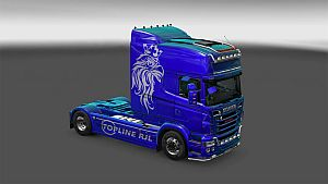 Metallic Griffin skin for Scania RJL