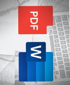 تحويل الملفات الصورية وملفات الpdf الى ملف word وورد قابل للتعديل للغة الانجليزية والعربية وبشكل سريع