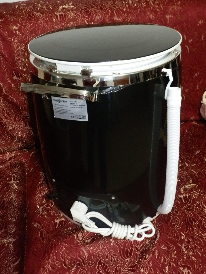 OneConcept Ecowash-Pico, mini lavatrice portatile da campeggio 2 articoli per la casa