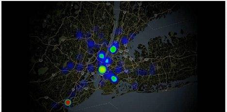 Mapa da gripe de Nova York
