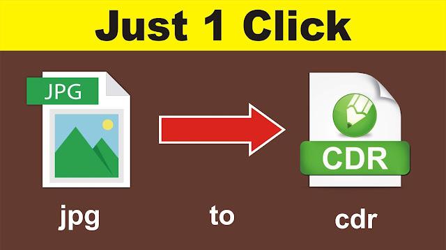 How to Convert jpg to cdr Format in Coreldraw 9.0 (2020)