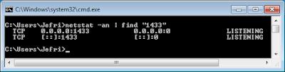 Netstat SQL Server port 1433