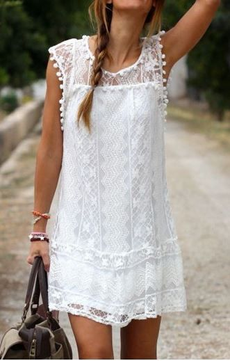 Chic White Lace Dress