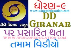 Std-9 DD Girnar Home Learning All Subjects Video August-2020 (www.wingofeducation.com)