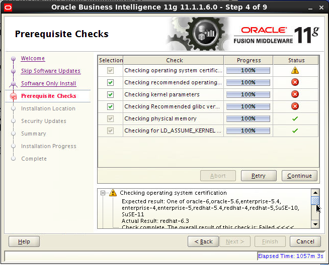 OBIEE 11g (11 1 1 6 0)Software Install On REL6 3 64-bit | OBIEE