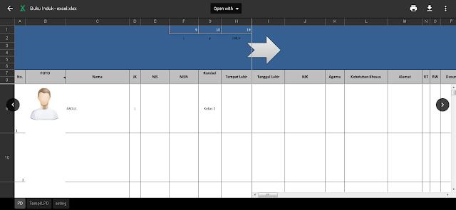 Aplikasi Buku Induk Siswa Excel Gratis