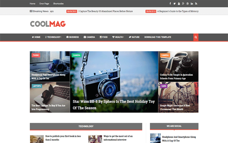 Cool Mag Free Blogger Template