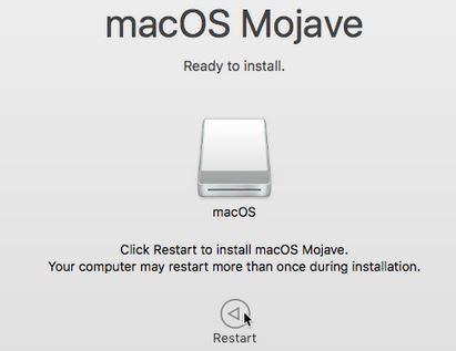 .Saat diminta, mulai ulang Mac Anda.