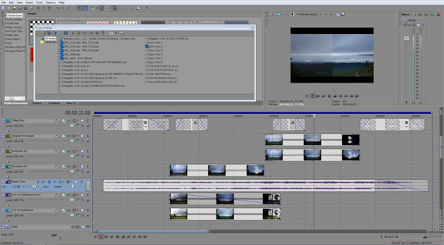A look at the Sony Vegas Pro 10 interface during editing.