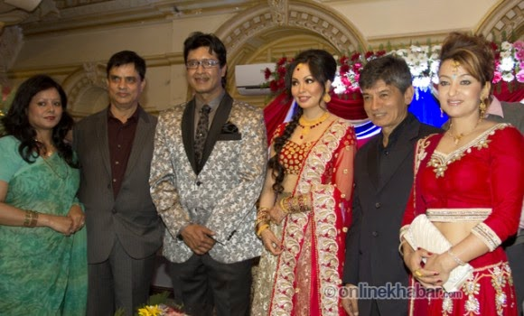 hari bansha acharya, rajesh hamal and madhu bhattarai wedding, jharana bajracharya