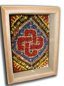 Micro Mosaic Shadowbox made using No Days Groutless Mosaic Adhesive