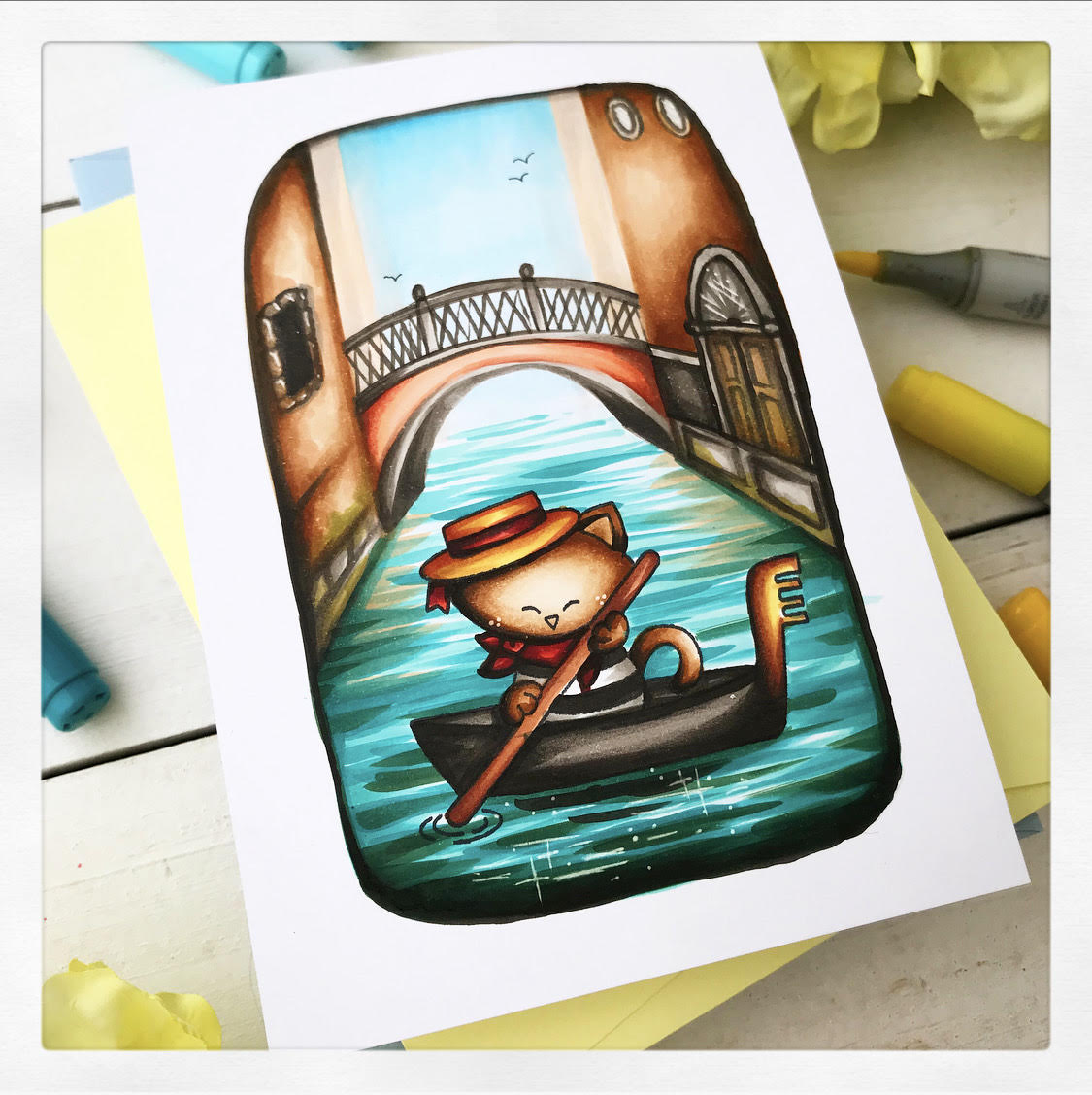 Newton Dreams of Italy March Guest Designer Alberto Gava | Newton Dreams of Italy Stamp Set by Newton's Nook Designs #newtonsnook #handmade