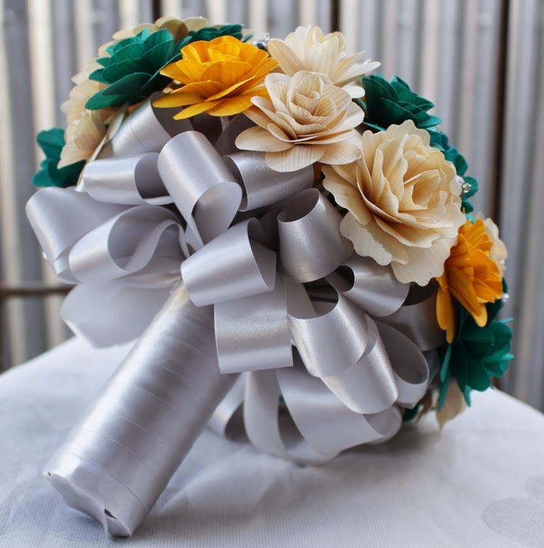 Yellow And Grey Wedding Flowers: Teal, Mustard Yellow And Gray Wedding: Bouquets Made Of