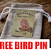 Free Redbreast Bird Pin